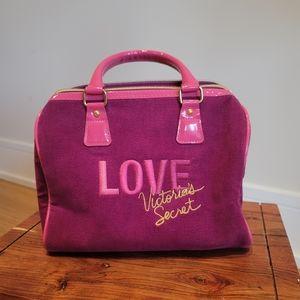 Victoria Secret Pink Velvet Love Satchel Purse Bag